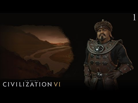 Civilization VI: Rise and Fall - Let's Play as Mongolia #1 (Deity)