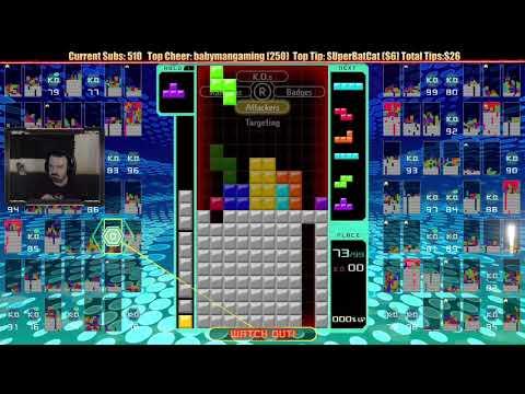 Tetris 99 Gameplay: Feb. 24, 2019 pt2