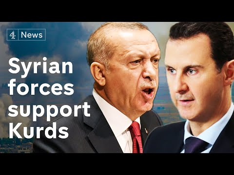 Syrian forces move into Kurdish-held territory as Turkish offensive continues