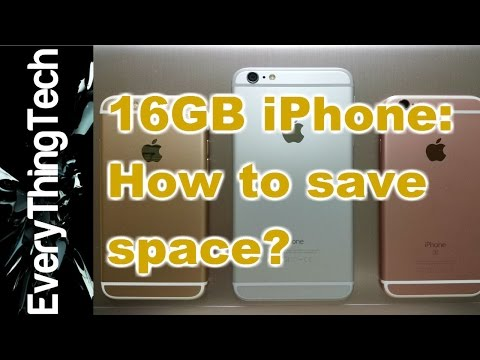 16GB iPhone: How to save space?