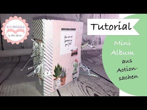 DIY * Mini Album * leicht erklärt für Anfänger * aus meinem Action Haul * Paper Craft Set * Tutorial
