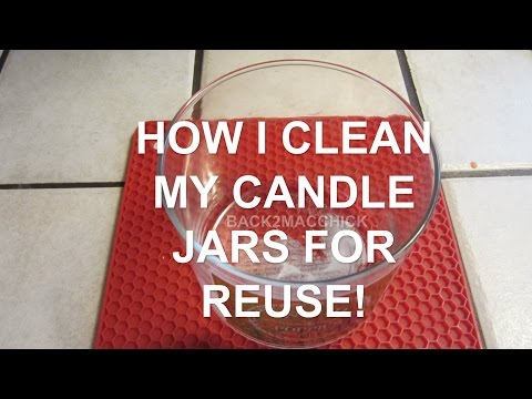 HOW I CLEAN MY EMPTY CANDLE JARS FOR REUSE WITH NO MESS!