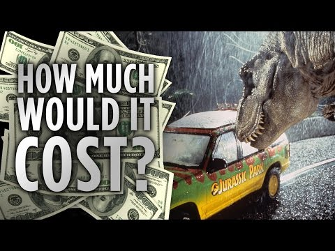 This video examines how much it would cost to construct a real-world Jurassic Park