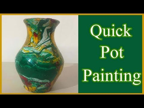 How to paint and Decorate a pot using M-Seal l Bangla matir shilpo l Easy Pot Painting