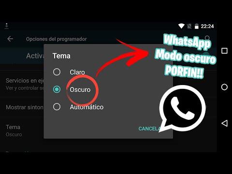 POR FIN!! WhatsApp Modo Oscuro OFICIAL ¿Como Activarlo?