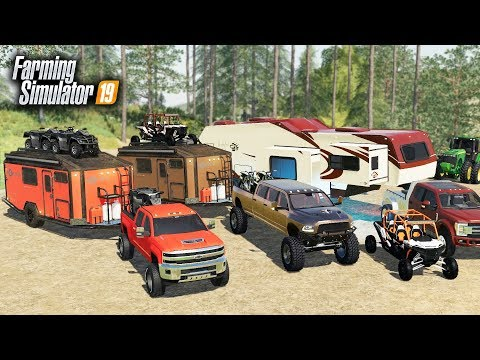FS19- LUXURY CAMPING! $90,000 OFF-ROAD CAMPER & BUILDING A RV RESORT (MULTIPLAYER) thumbnail