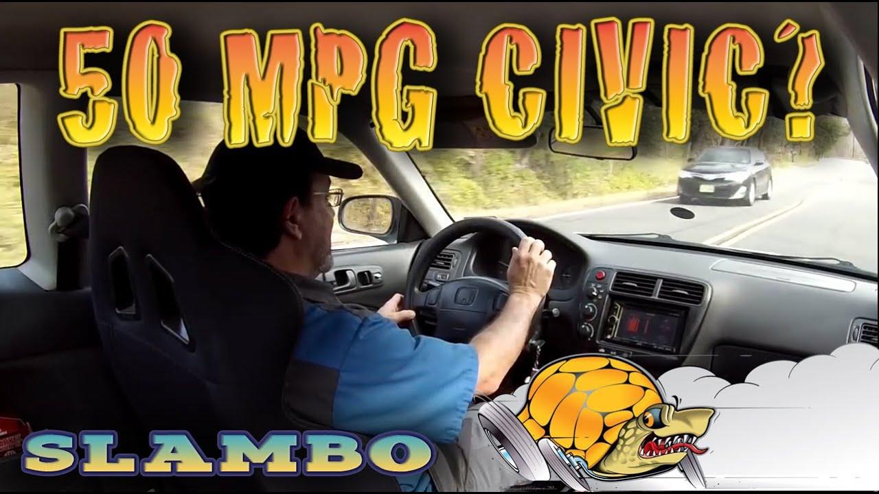 50 MPG Honda Civic - Slambo Road Test - YouTube