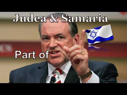 Presidential Candidate - Judea & Samaria are part of Israel, Jerusalem is its capital