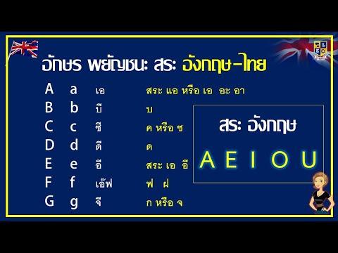 วิธีเทียบอักษรภาษาอังกฤษเป็นไทยง่ายๆ | เขียนชื่อภาษาอังกฤษ