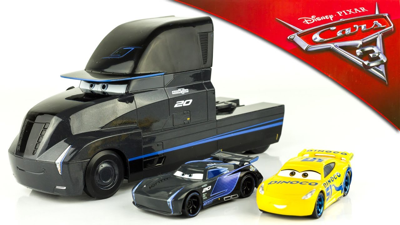 disney cars 3 camion gale beaufort jackson strom cruz ramirez dinoco disneystore jouet toy. Black Bedroom Furniture Sets. Home Design Ideas