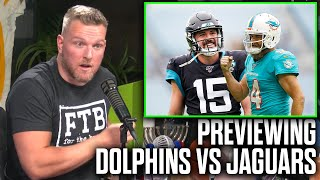 Pat McAfee Previews The Dolphins vs Jags Week 2 Matchup