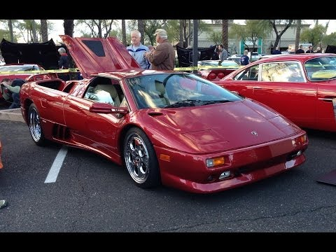 Lamborghini Diablo Spyder At Cars And Coffee Scottsdale Youtube