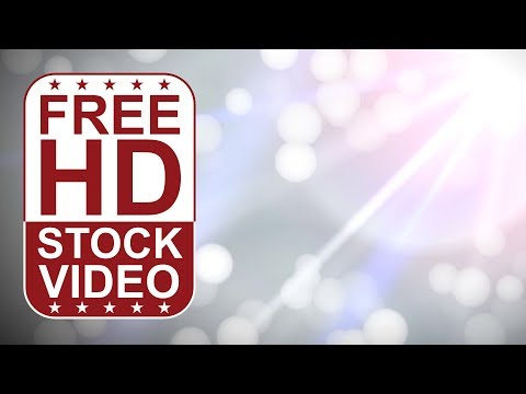 Free Stock Videos –  Abstract Animated White Lights Blurred Bokeh Effect