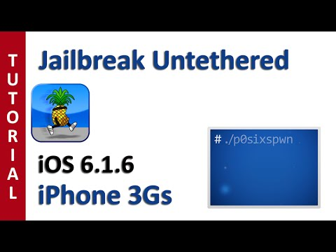 LEER NOTAS - Jailbreak untethered iOS 6.1.6 iPhone 3Gs & iPod Touch