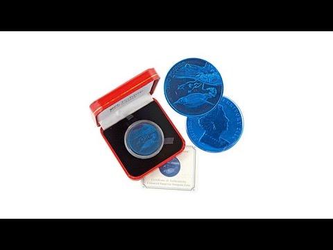 2016 Virgin Islands $5 Titanium Emperor Penguin Coin