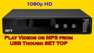 How to Play Videos From Pen Drive from Set Top Box
