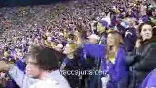 LSU Band plays Neck Tiger Stadium North End Zone does it