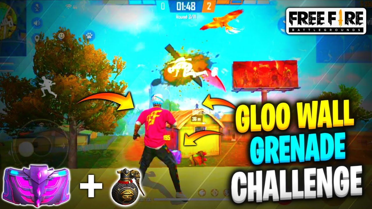 FREE FIRE || GLOO WALLS AND GRENADES CHALLENGE || INSANE NADING || NED ARMY || #tsgarmy