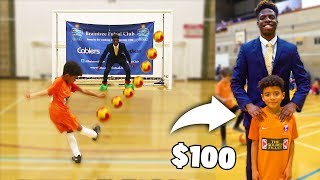 I Donated a Kid $100 Football Boots If He Wins Penalty Soccer Challenge