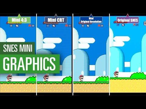 Nintendo SNES Mini vs. SNES Original / Graphics comparison