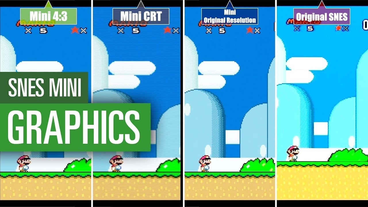 Bad Konsole Bilder Nintendo Snes Mini Vs Snes Original Graphics Comparison