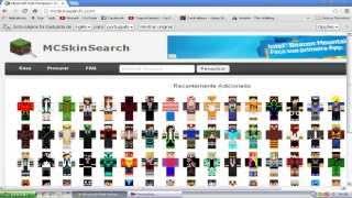 Como Baixar a Sua Skin Do Minecraft MC Skin Search - 2014