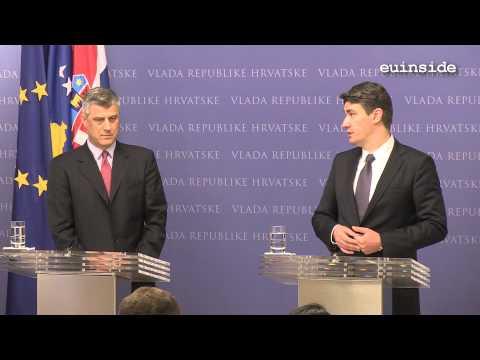 Zoran Milanovic with Hashim Thaci