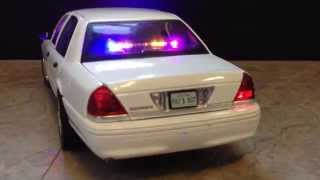 1:18 d crown victoria unmarked police car with 28 led lights
