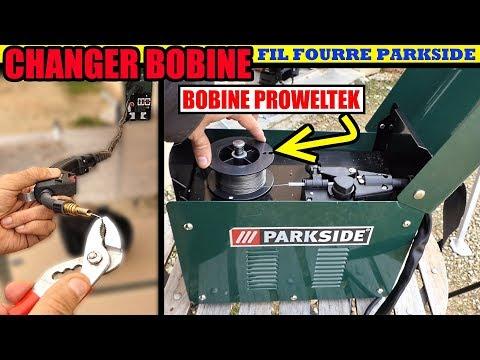 PARKSIDE Poste à Souder à Fil Fourré : Changer La Bobine + Test Bobine PROWELTEK Sans Gaz MIG-MAG