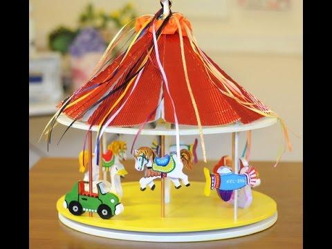 Pintura sobre madera calesita juguetes en madera ana - Pintura para maderas ...