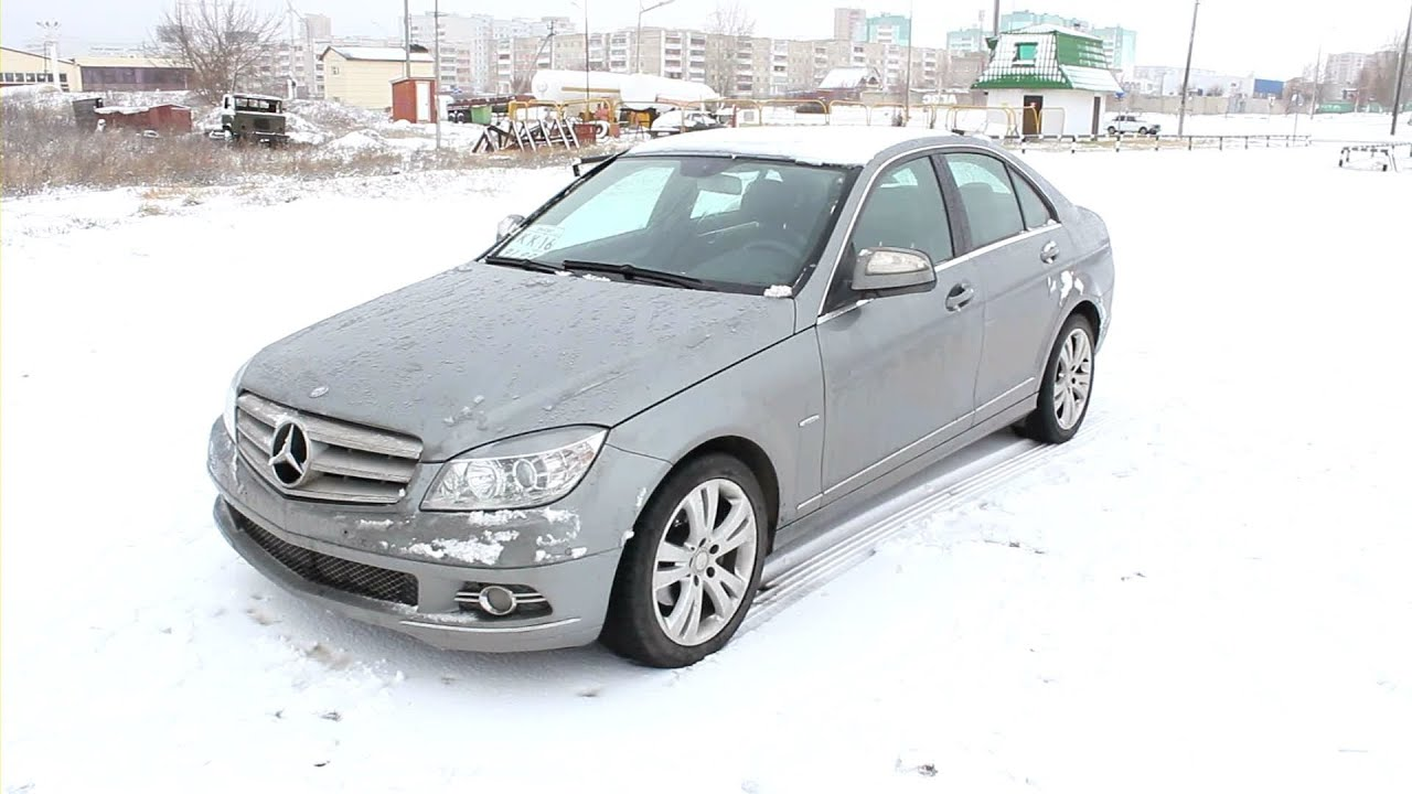 2008 mercedes-benz c200 kompressor. start up, engine, and in depth