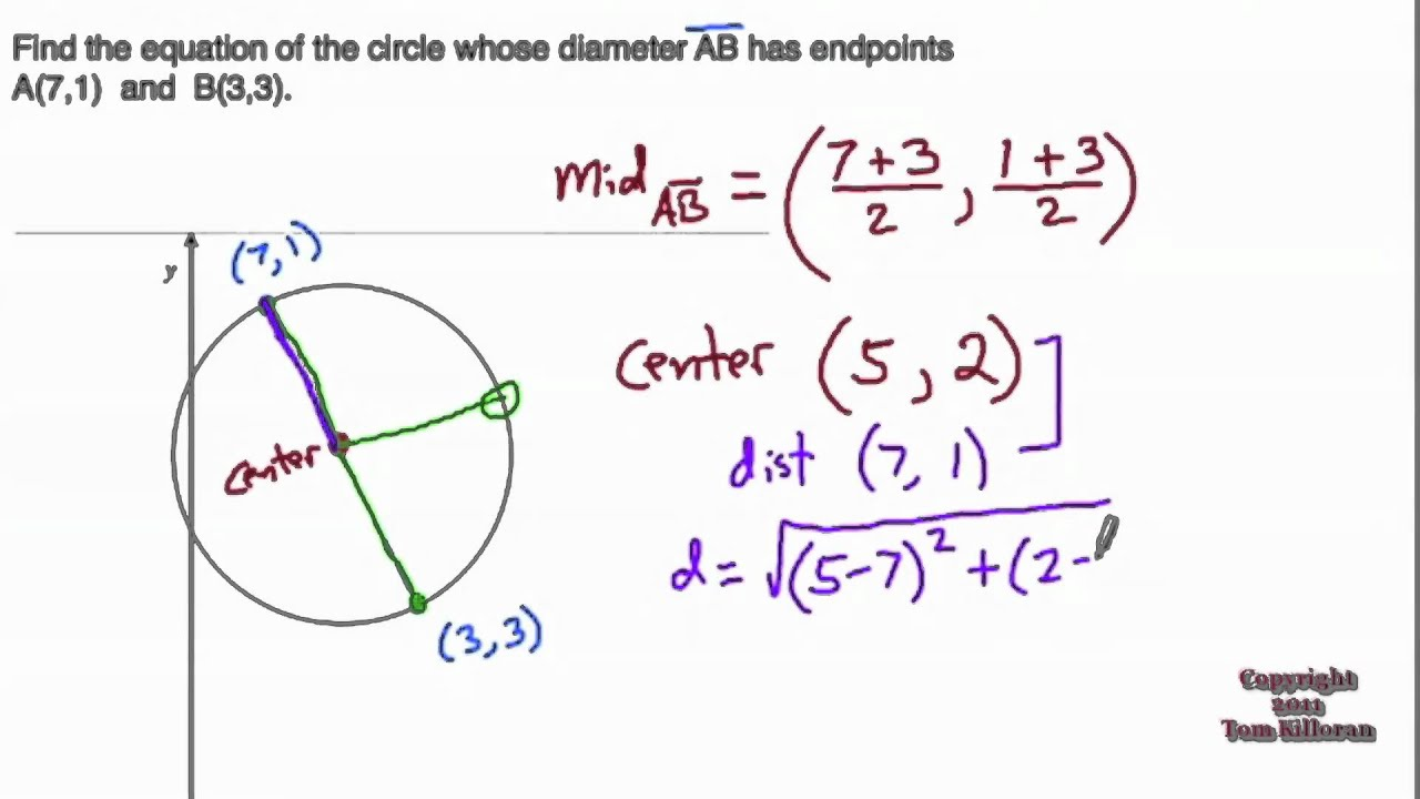 Finding the equation of a circle youtube finding the equation of a circle ccuart Image collections