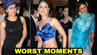 OMG ! Worst Moments Faced by Kareena Kapoor | MUST WATCH