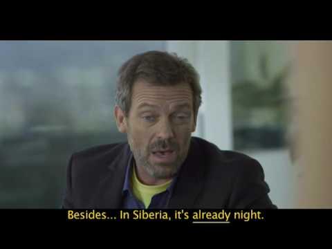 Hugh Laurie - Hablando Español [Schweppes Siberianos]