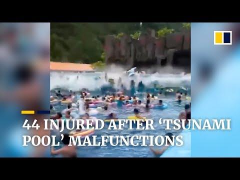 Super Martinez - Tsunami en un parque acuático deja heridos debido a una falla mecánica