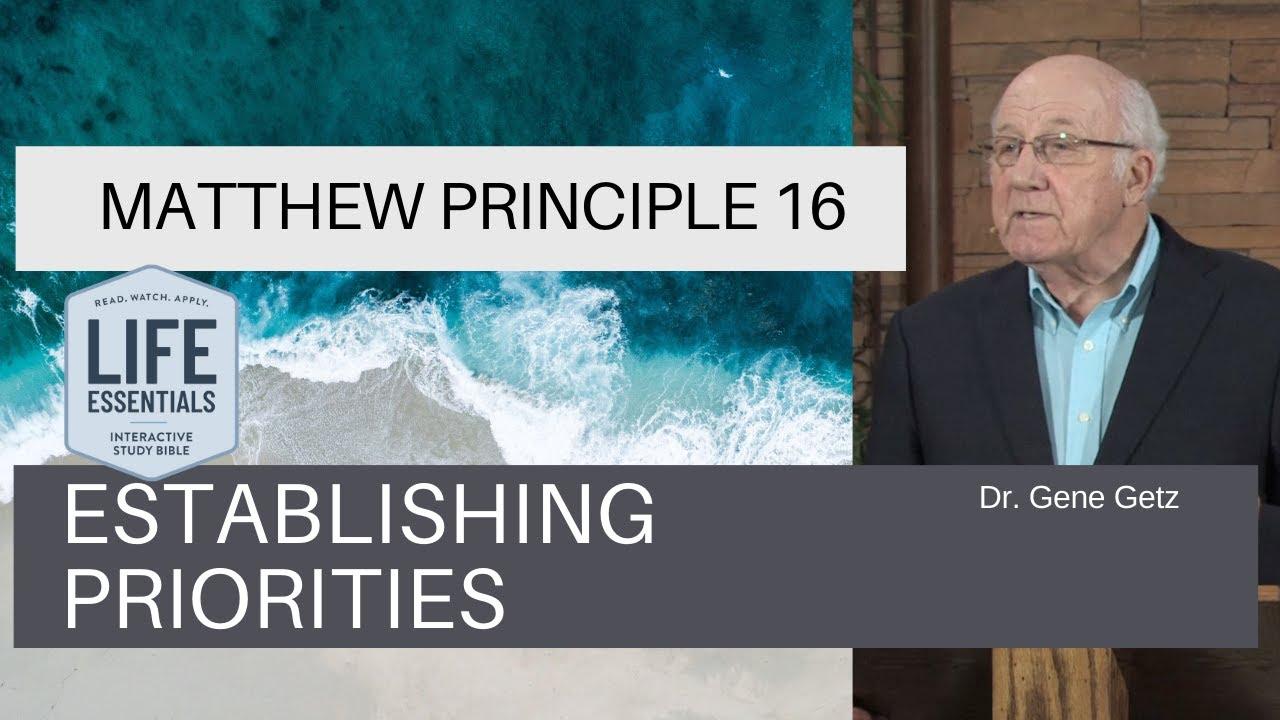 Download Matthew Principle 16 Establishing Priorities