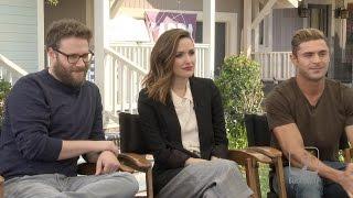 Zac Efron, Rose Byrne and Seth Rogen Interview for Neighbors 2: Sorority Rising