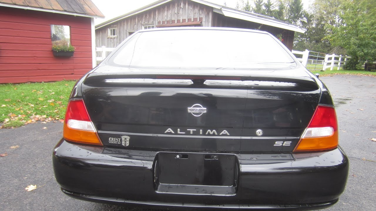 1998 black nissan altima se - used cars hudson valley - youtube