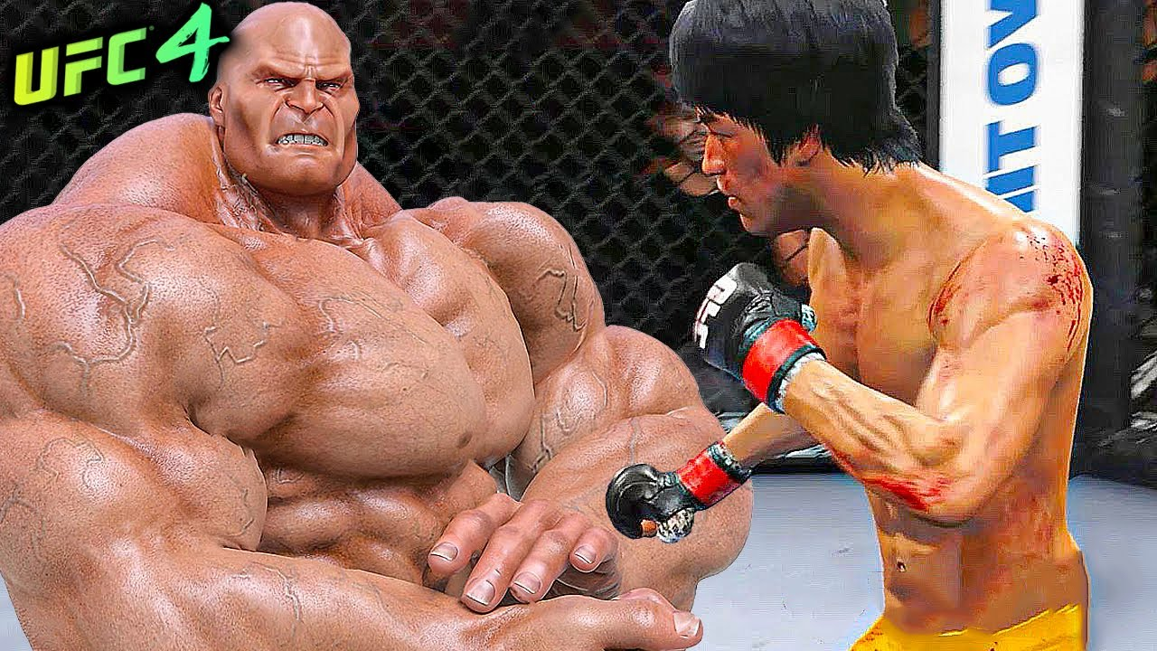 UFC4   Bruce Lee vs. Monster Bodybuilder (EA sports UFC 4)