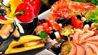 Салат к празднику. Простое и вкусное блюдо с мидиями, крабовыми палочкаи и свежими овощами.