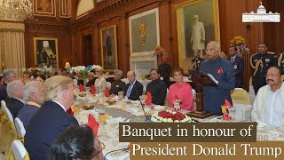 President Kovind hosts banquet in honour of President Donald Trump