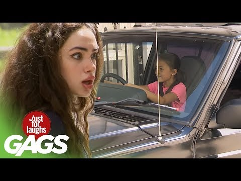 Kid Driving a Car Prank! - Just For Laughs Gags