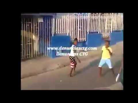 Pelea de pandillas cartagena