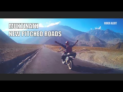 Road to Muktinath New Pitched Roads    NEPAL