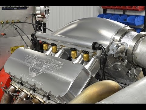 Steve Morris Engines Twin Turbo 615 BBC Engine Dyno Session