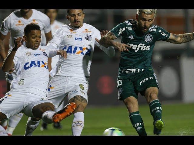 Santos 1x1 Palmeiras - Gol de Lucas Lima - 19/07/2018 - Campeonato Brasileiro
