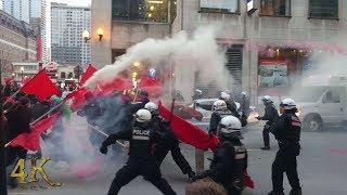 Montréal: Manif du 1er mai 2018 vire au vinaigre / May Day march turns sour 5-1-2018