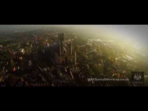 Flying around Lincoln Castle : Aerial tests