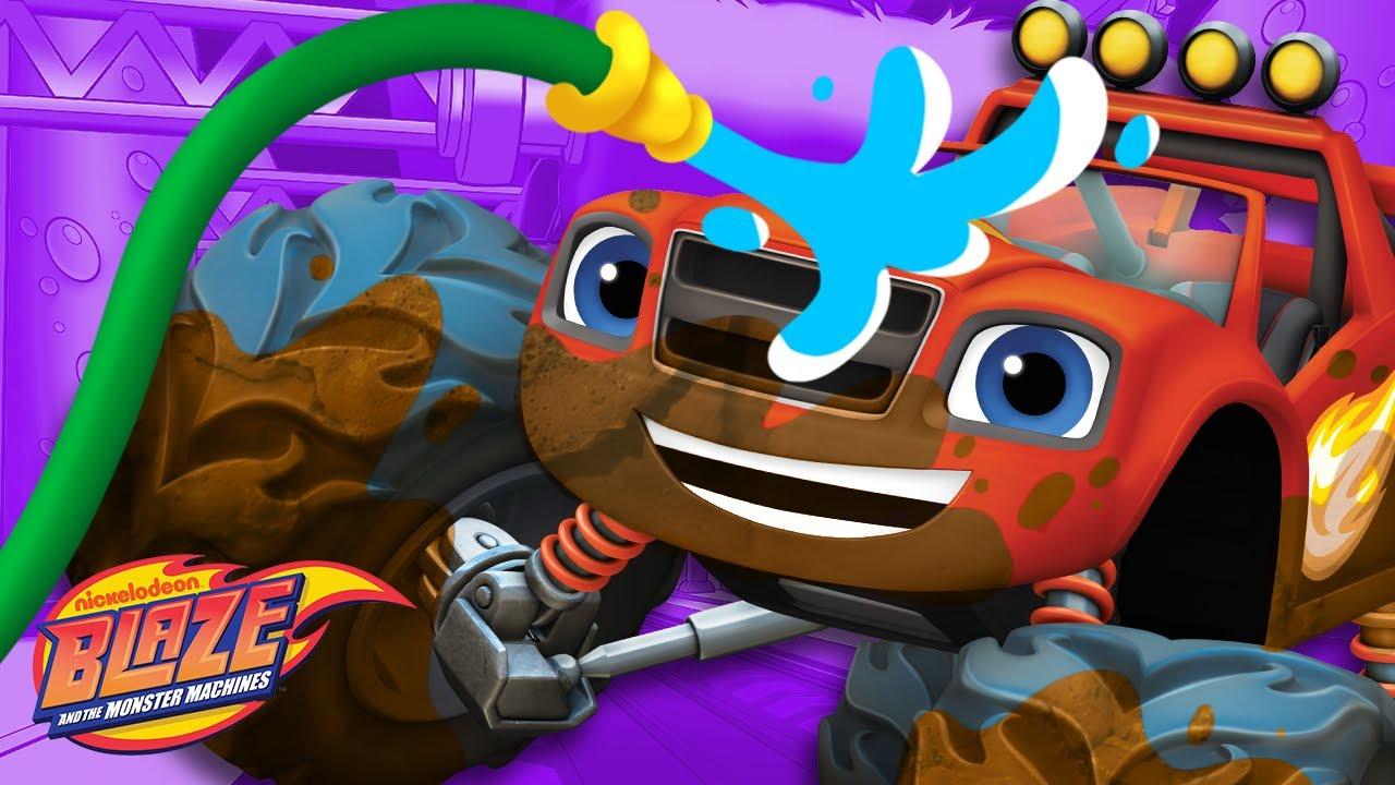 Car Wash Surprise #1 w/ the Monster Machines! | Blaze and the Monster Machines