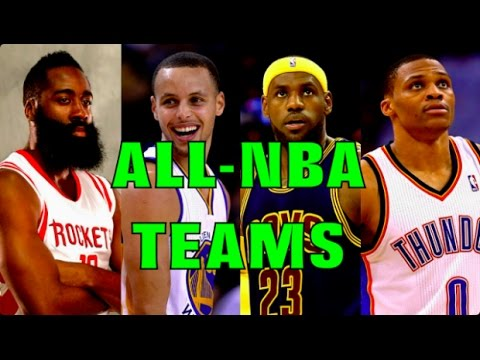 My 2016-17 ALL-NBA TEAMS!